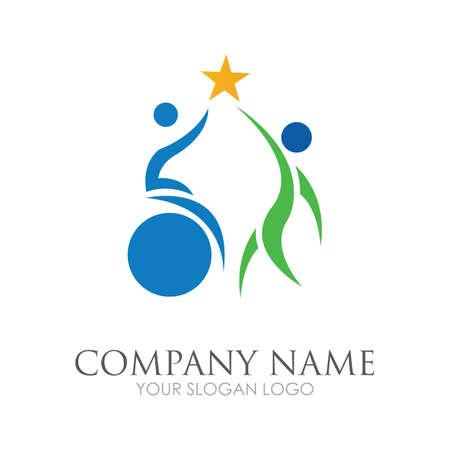 disability logo vector illustration design template - vector