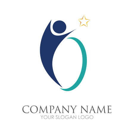 disability logo vector illustration design template - vector Reklamní fotografie - 157217900