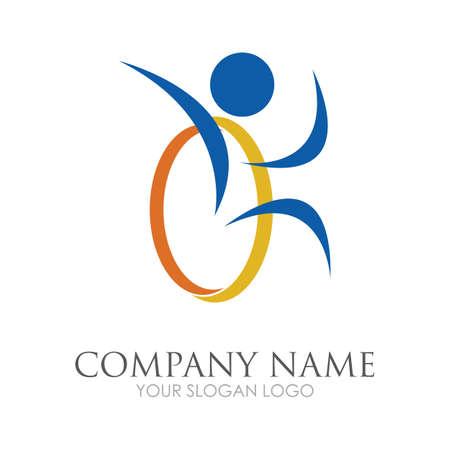 disability logo vector illustration design template - vector Reklamní fotografie - 157217920