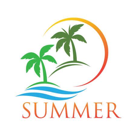 summer logo symbol illustration design template - vector Logo