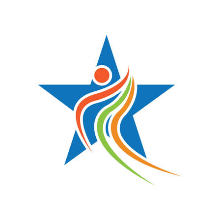Star success people care logo and symbols template Logo