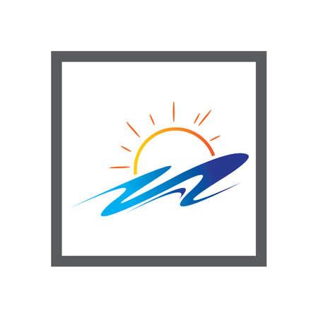 Sun Vector illustration Icon Logo Template design Illustration