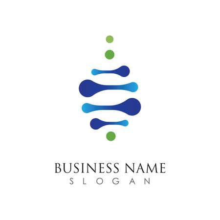 D,N,A logo vector icon template