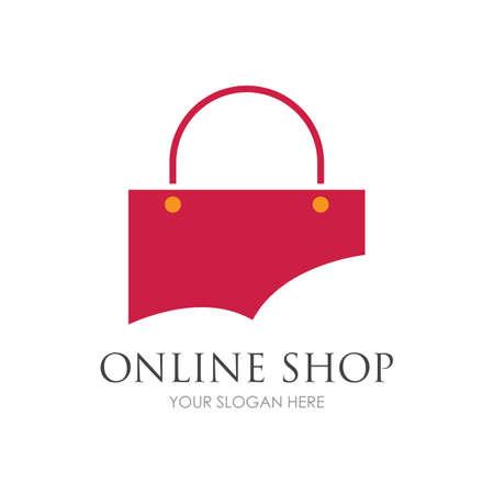 online shop logo vector icon illustration template design Logó