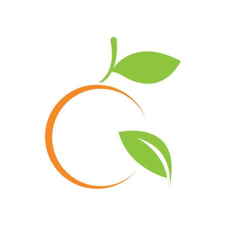 Orange logo design Vector icon illustration design 免版税图像 - 156989997