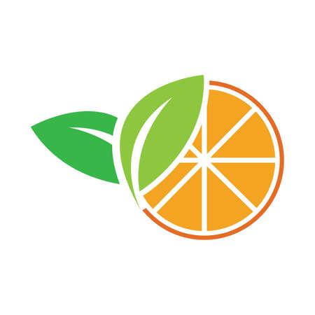 Orange logo design Vector icon illustration design 矢量图像