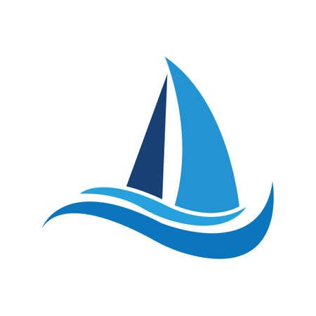 sailing logo vector icon concept illustration design template Logo
