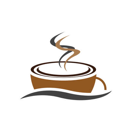 Coffee cup Logo Template vector icon design Reklamní fotografie - 157344318