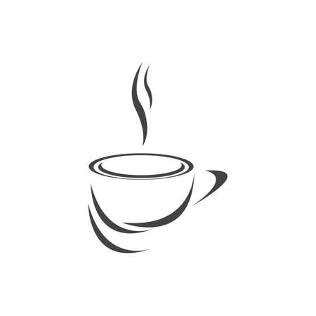 Coffee cup Logo Template vector icon design Reklamní fotografie - 157345135