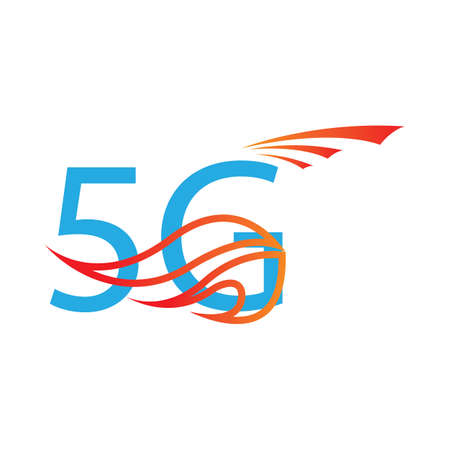 5g logo sign vector templateVector technology icon network sign 5G