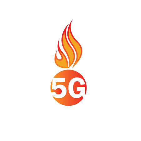 5g logo sign vector template