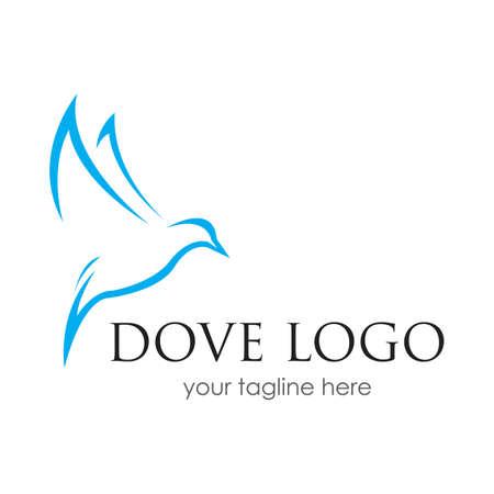 Bird Dove Logo Template Bird logo template, Animal flying icon design vector 矢量图像