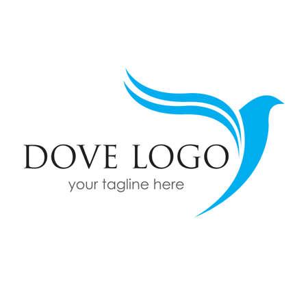 Bird Dove Logo TemplateBird logo template, Animal flying icon design vector
