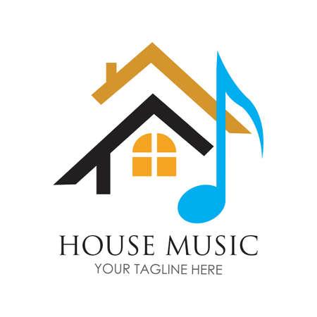 House music logo images illustration design template Logos