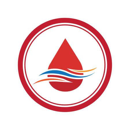 Blood Donation Logo Template Design Vector Blood logo template vector icon