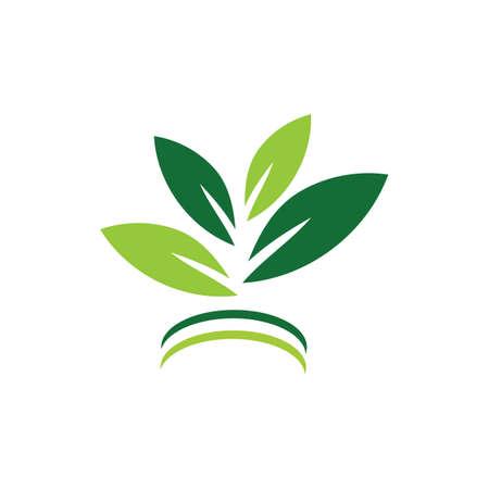 natural leaf logo vector illustration design template Reklamní fotografie - 158628408