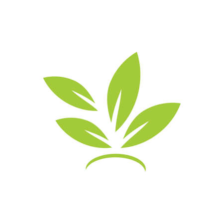 natural leaf logo vector illustration design template Reklamní fotografie - 158628410