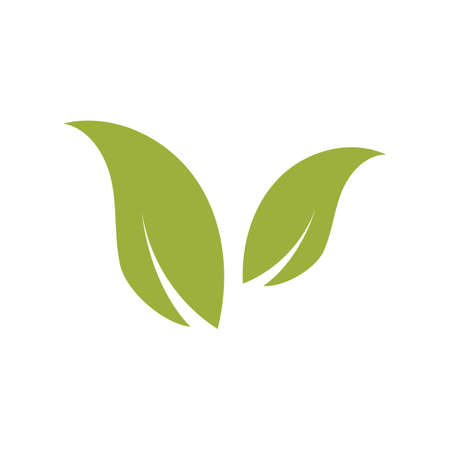 natural leaf logo vector illustration design template Reklamní fotografie - 158628415