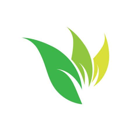 natural leaf logo vector illustration design template Reklamní fotografie - 158628421
