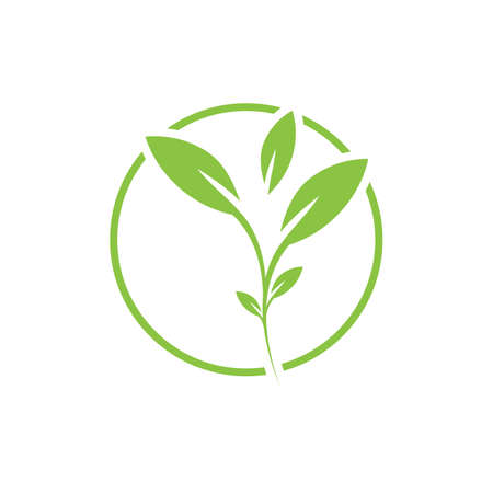 natural leaf logo vector illustration design template Reklamní fotografie - 158628494