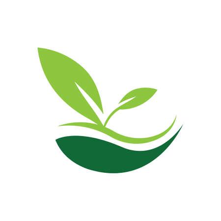natural leaf logo vector illustration design template Reklamní fotografie - 158628496
