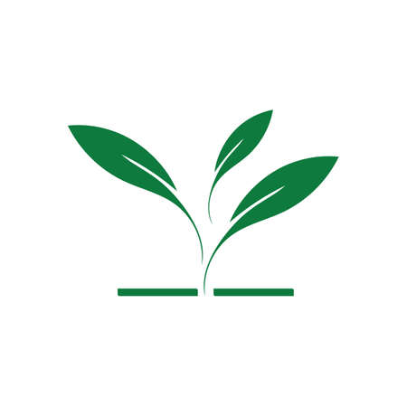 natural leaf logo vector illustration design template Reklamní fotografie - 158628504