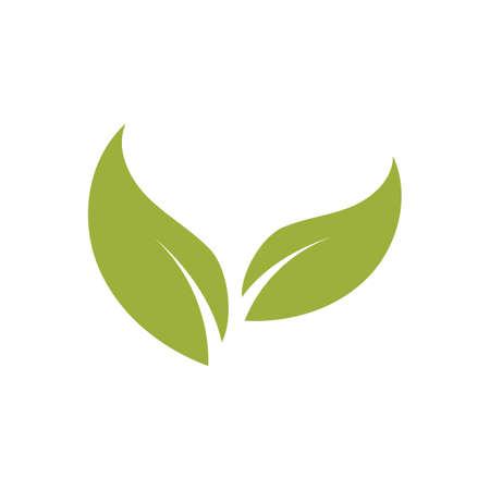 natural leaf logo vector illustration design template Reklamní fotografie - 158628507