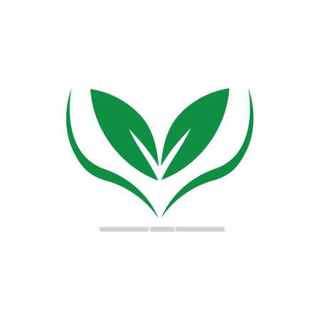 natural leaf logo vector illustration design template Reklamní fotografie - 158628508