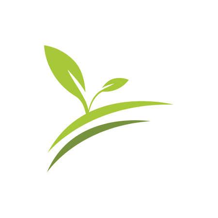 natural leaf logo vector illustration design template Reklamní fotografie - 158628513