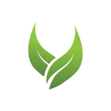 natural leaf logo vector illustration design template Reklamní fotografie - 158628514