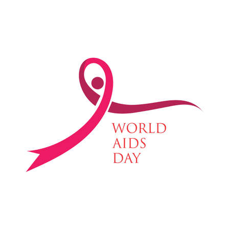 Red ribbon AIDS, HIV icon illustration,world AIDS day,AIDS awareness vector illustration Ilustrace