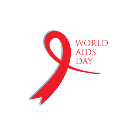 Red ribbon AIDS, HIV icon illustration,world AIDS day,AIDS awareness vector illustration Reklamní fotografie - 158709508