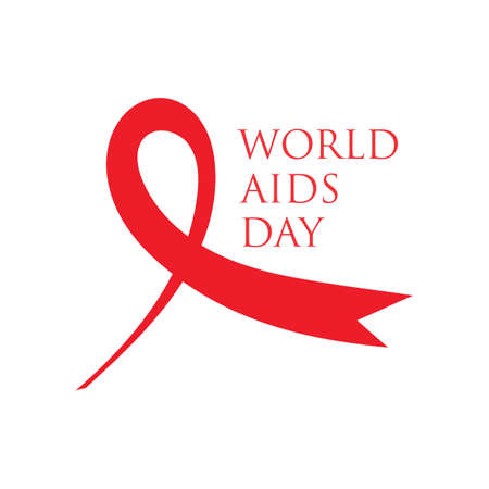 Red ribbon AIDS, HIV icon illustration,world AIDS day,AIDS awareness vector illustration Reklamní fotografie - 158701711