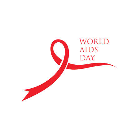Red ribbon AIDS, HIV icon illustration,world AIDS day,AIDS awareness vector illustration Reklamní fotografie - 158709509