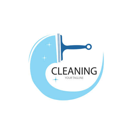 Cleaning logo and symbol ilustration vector template Ilustrace