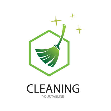 Cleaning logo and symbol ilustration vector template Иллюстрация