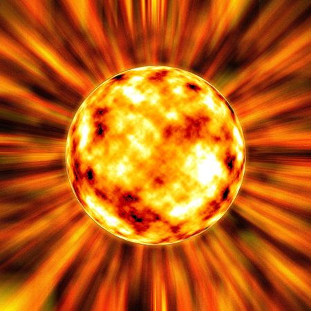 fire star in the universe Stock Photo