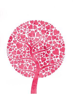 love tree: tree with hearts Stock Photo