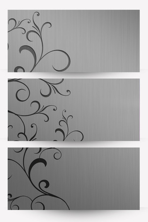metalic background: abstract floral silver (metalic) background