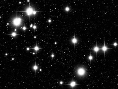 prognosis: Gemini Zodiac sign bright stars in cosmos Stock Photo