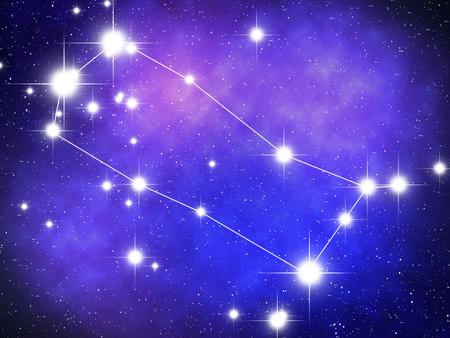 gemini zodiac: Gemini Zodiac sign bright stars in cosmos Stock Photo