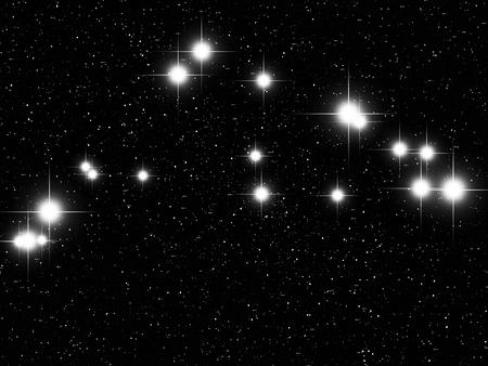 capricornus: Capricornus Zodiac sign bright stars in cosmos