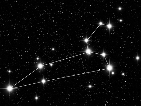 leo: Leo Zodiac sign bright stars in cosmos