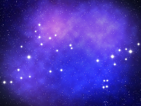 zodiacal symbol: Pisces Zodiac sign bright stars in cosmos