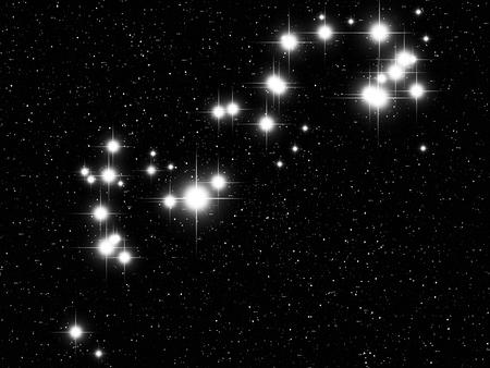 astronomic: Scorpius Zodiac sign bright stars in cosmos