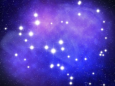 astronomic: Sagittarius Zodiac sign bright stars in cosmos Stock Photo