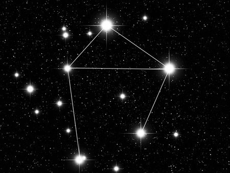 Libra: Libra Zodiac sign bright stars in cosmos