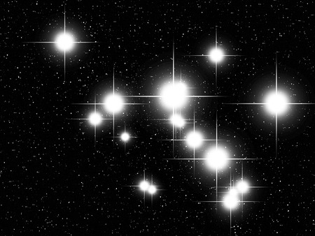 starbright: Cassiopeia constellation in the night sky