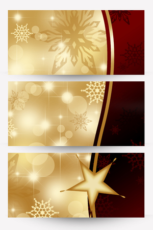 satin round: christmas banners Stock Photo