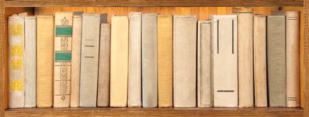 the shelf: old books on the shelf Stock Photo
